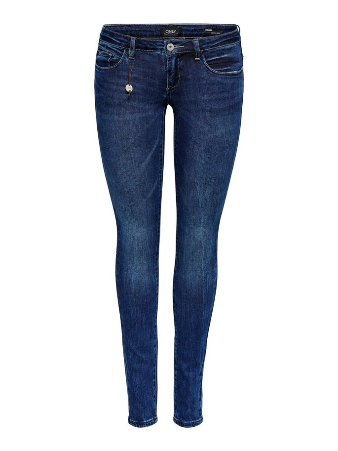 CORAL SUPERLOW SKINNY FIT JEANS, Medium Blue Denim, large