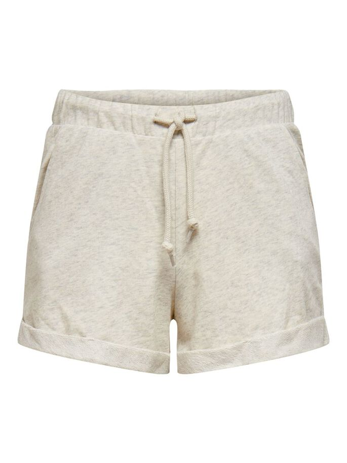 SOLID COLORED SWEAT SHORTS, Oatmeal, large