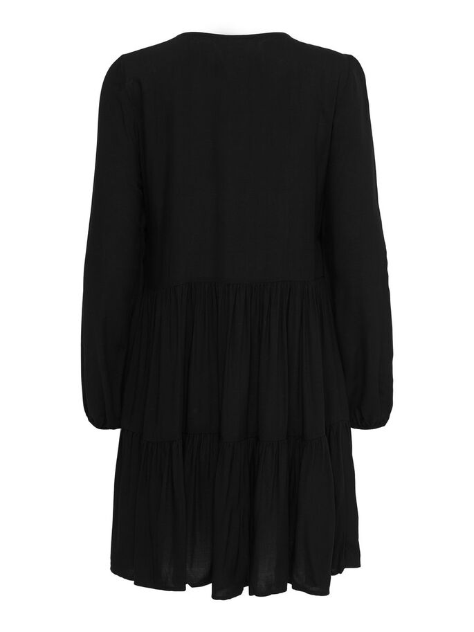 FRILL DRESS, Black, large