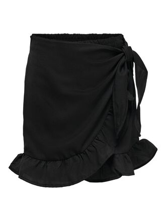 WRAP FRILL SKIRT SHORTS
