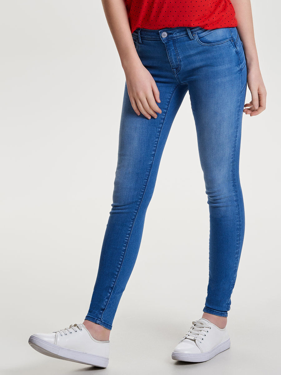 Allan Reg Push Up Skinny Fit Jeans Dames Blauw Only
