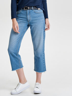 CHAD HW CROP STRAIGHT FIT-JEANS