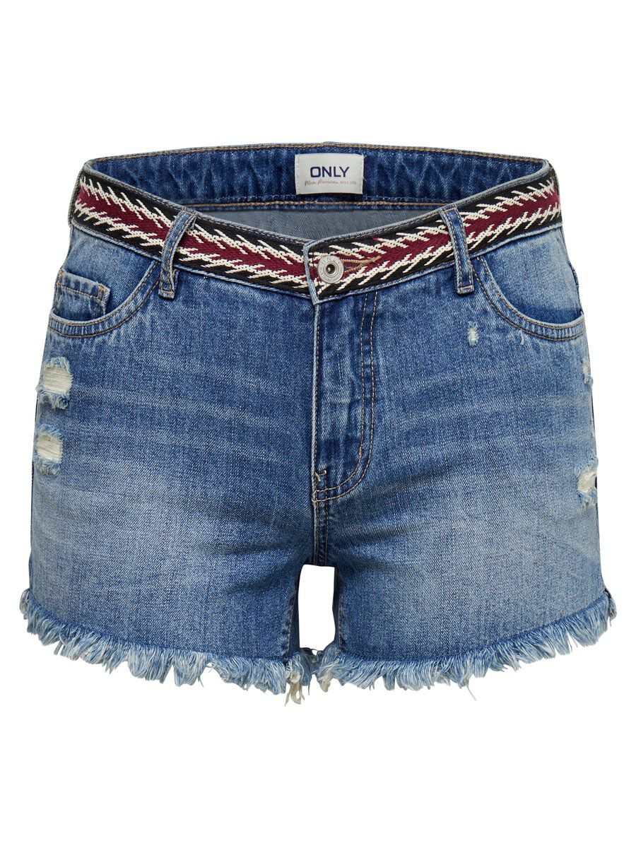 Only Carmen Reg Tape Wb Denim Shorts Women Blue