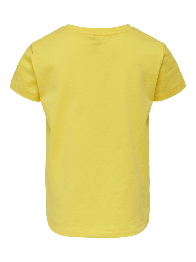 BEDRUKT T-SHIRT, Primrose Yellow, large