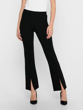 FLARE SLIT TROUSERS