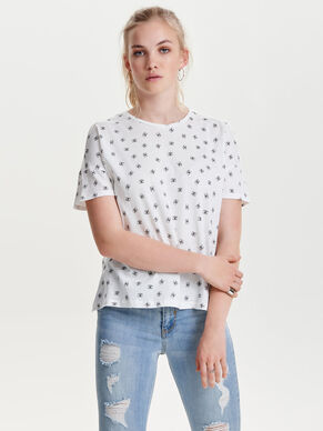 PRINTED SHORT SLEEVED TOP