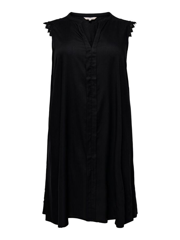 CURVY LOOSE FIT KLEID OHNE ÄRMEL, Black, large
