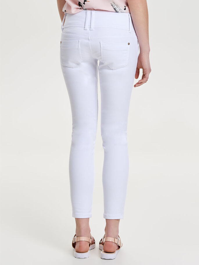 ANEMONE SOFT ANKLE SKINNY FIT JEANS, White, large
