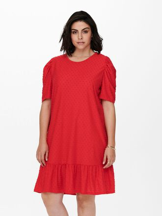 CURVY PUFF SLEEVE DRESS