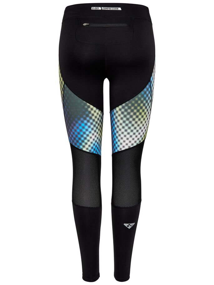 COMPRESSION RUNNING TIGHTS, Black, large