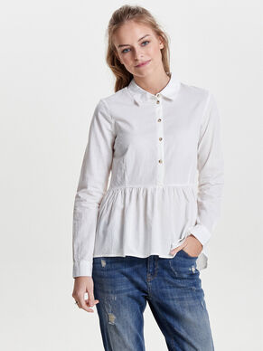 PEPLUM LONG SLEEVED SHIRT