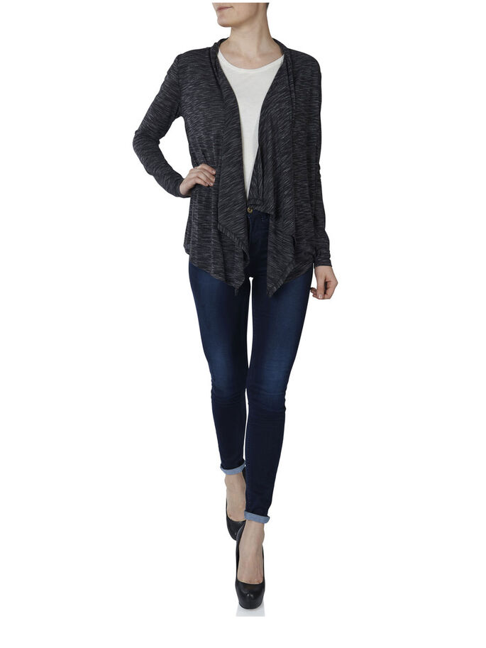 LONG SLEEVED CARDIGAN, Black, large