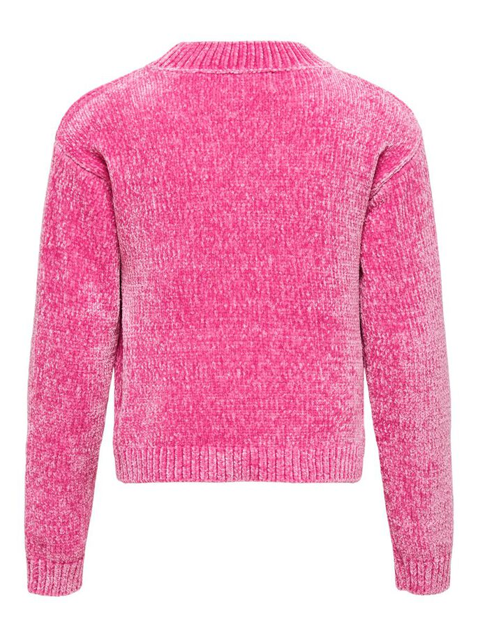 COURT PULL EN MAILLE, Shocking Pink, large