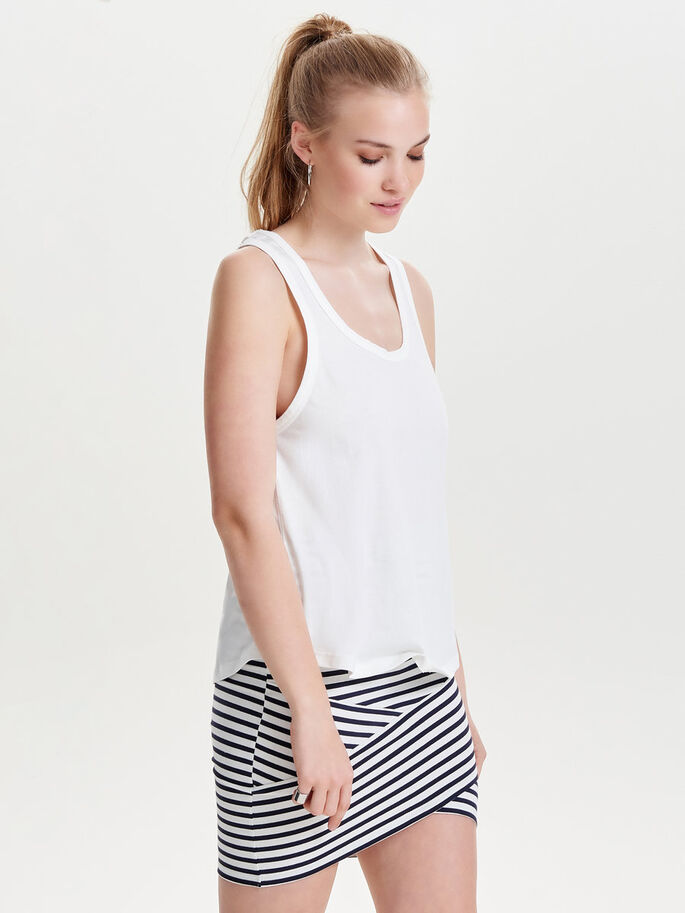 LØS TANKTOP, Cloud Dancer, large