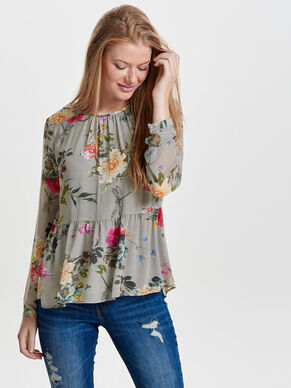 PEPLUM LONG SLEEVED TOP
