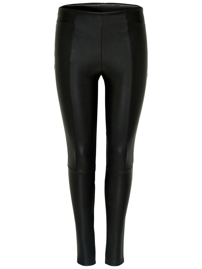 SIMILI CUIR LEGGINGS, Black, large