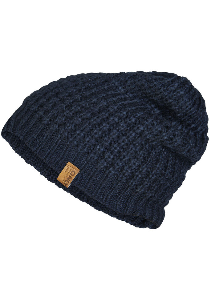 KNITTED HAT, Navy Blazer, large