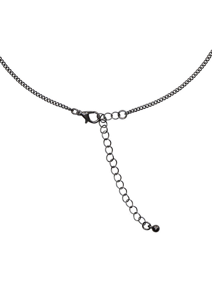 AVEC FINITIONS COLLIER, Gunmetal, large