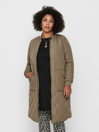 CURVY LONG QUILTED JACKET