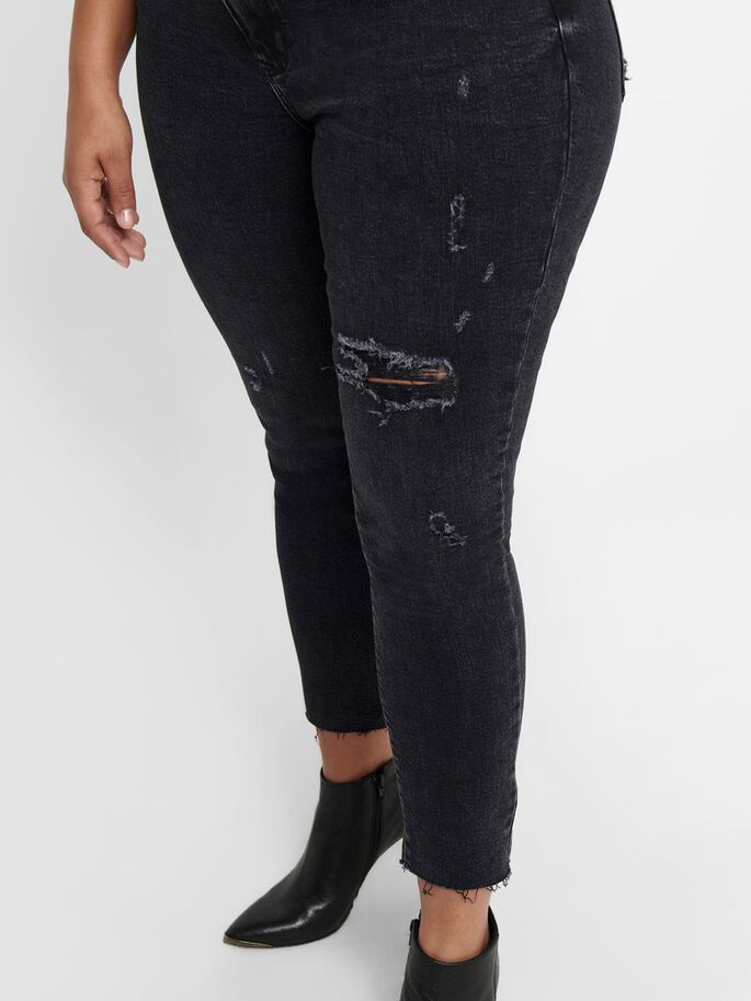 CURVY CARRUSH LIFE REG SKINNY JEANS, Black Denim, large
