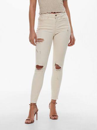 ONLBLUSH LIFE MID ANKLE DESTROYED SKINNY FIT JEANS