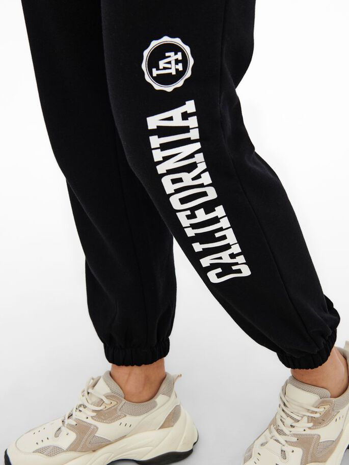 MAMA LOOSE FITTED SWEATPANTS, Black, large