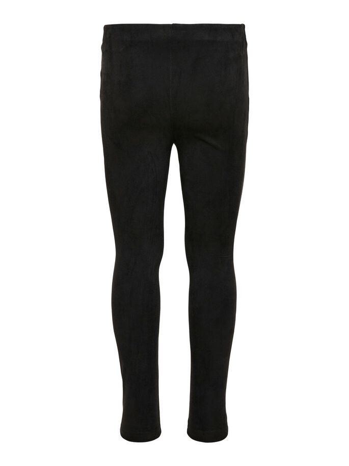 FAUX SUEDE TROUSERS, Black, large