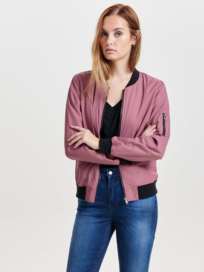 BOMBER- JACKE, Rose Brown, large