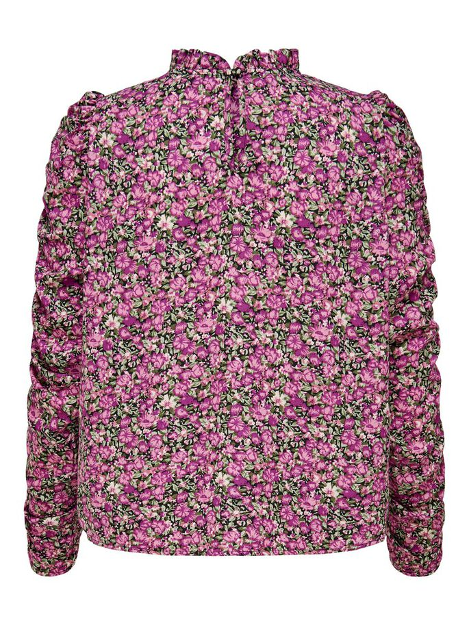BLOMSTERPRINT TOPP, Black, large