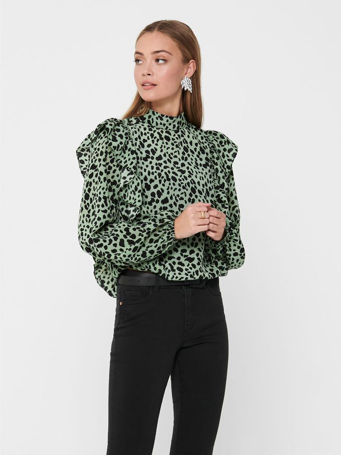 HIGH NECK TOP, Seagrass, large