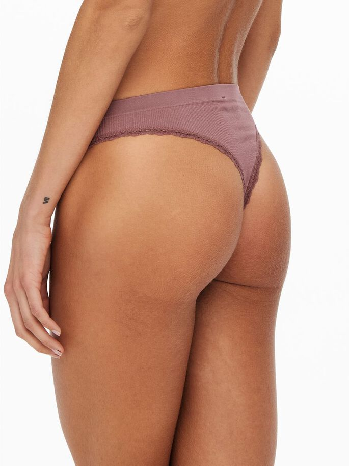 2-PACK LACE STRING, Rose Brown, large