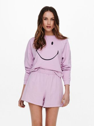 SMILEY FRONT PRINT SWEATSHIRT