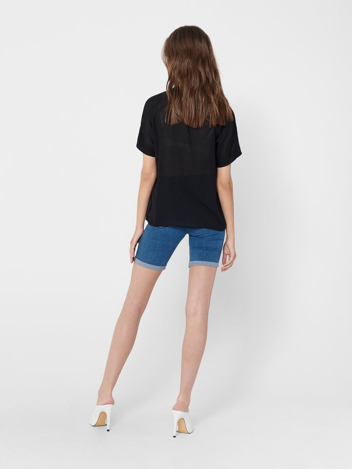 LOOSE FITTED TOP, Black, large