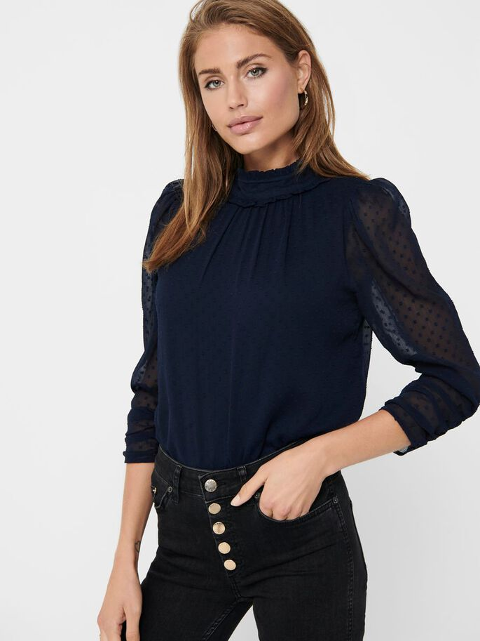LOOSE FITTED TOP, Night Sky, large