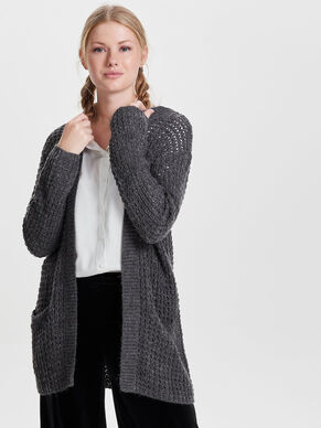 SOLID KNITTED CARDIGAN