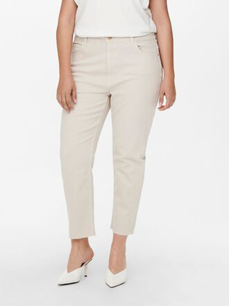 CURVY CARMILY HW STRAIGHT CROPPED JEANS