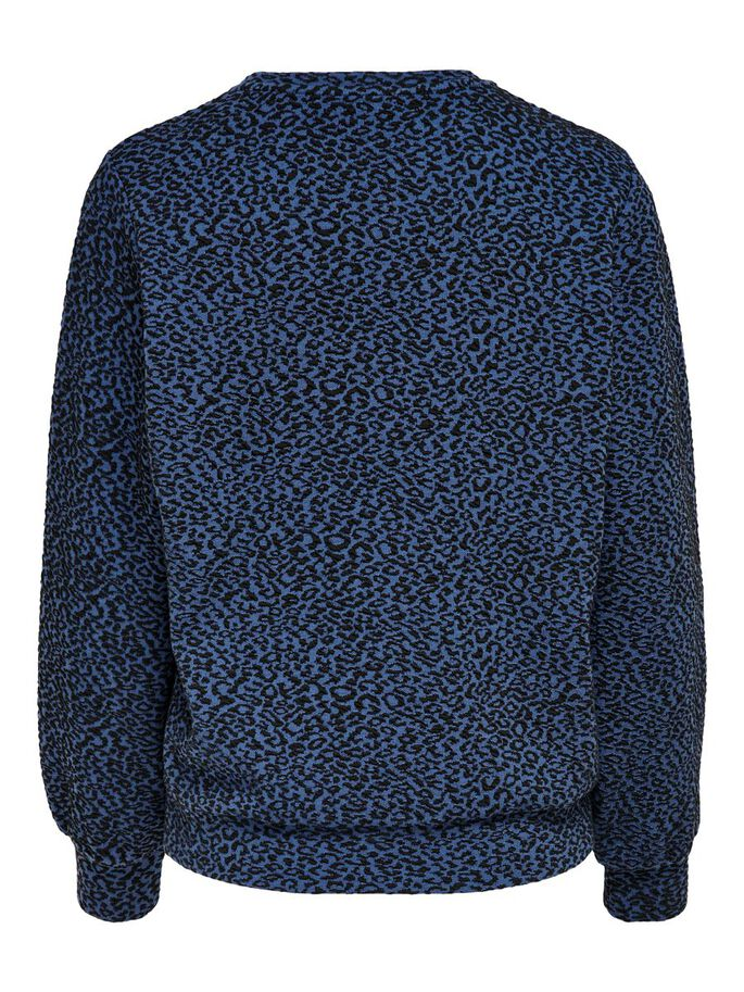LEOPARD SWEATSHIRT, Dark Blue, large
