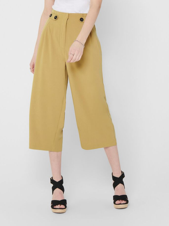 CULOTTE TROUSERS, Iced Coffee, large