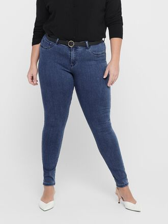 CURVY THUNDER PUSH UP REG SKINNY FIT JEANS