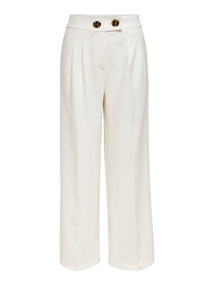 HIGH WAIST TROUSERS, Cloud Dancer, large
