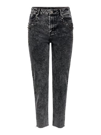 ONLWILD EMILY HW ACID ANKLE STRAIGHT FIT JEANS