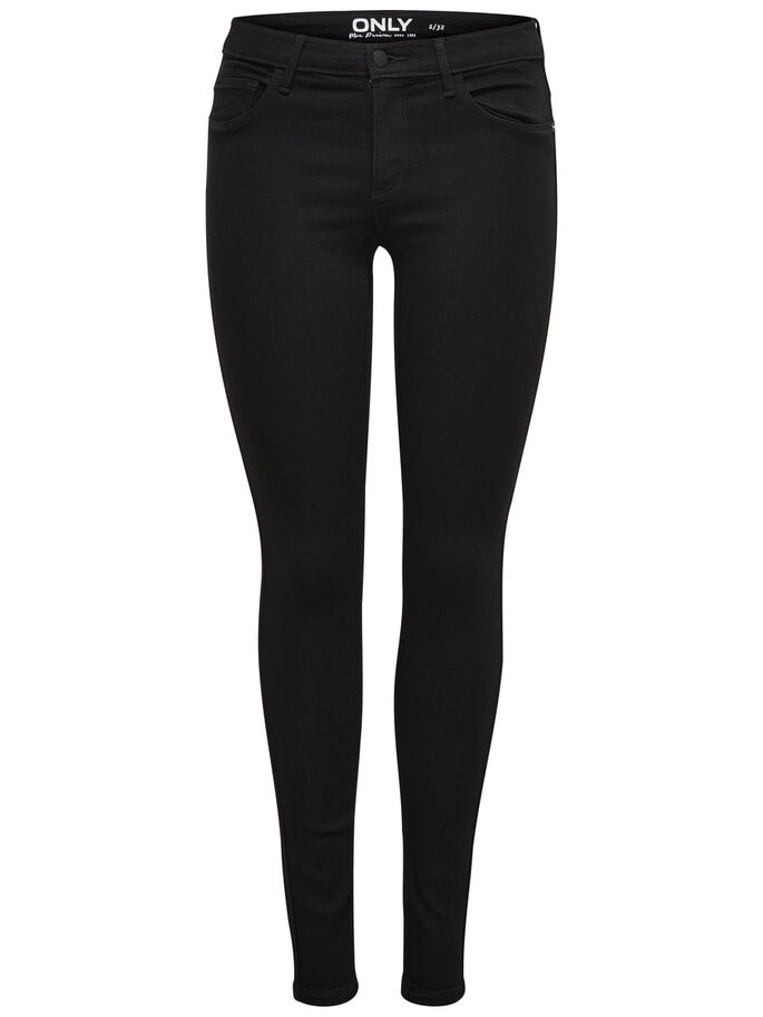 RAIN REG SKINNY FIT JEANS, Black, large