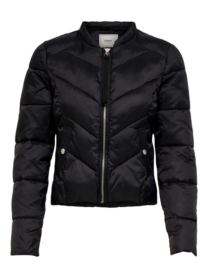 55f9d30bcfa4 PADDED QUILTED JACKET, Black, large