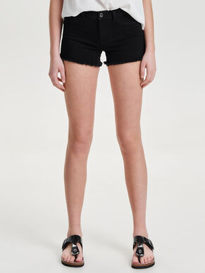 JDY SKYLAR BLACK DENIM SHORTS