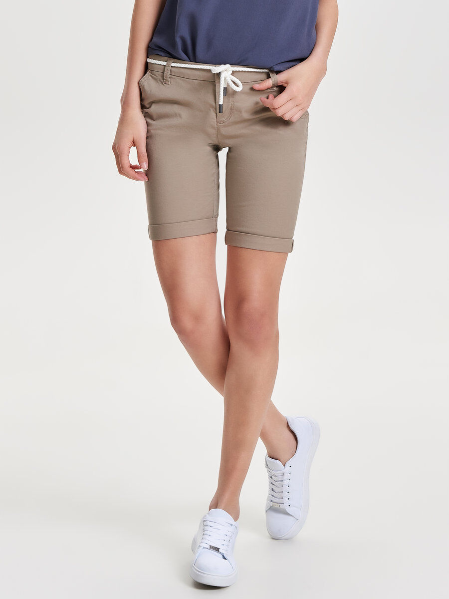 Free Shipping Big Discount Only Solid Chino Shorts Women Beige Buy Cheap Low Shipping Cheap Sale Cheapest n9tzAt