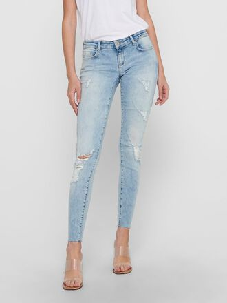 ONLCORAL SL ANK RAW SKINNY FIT JEANS