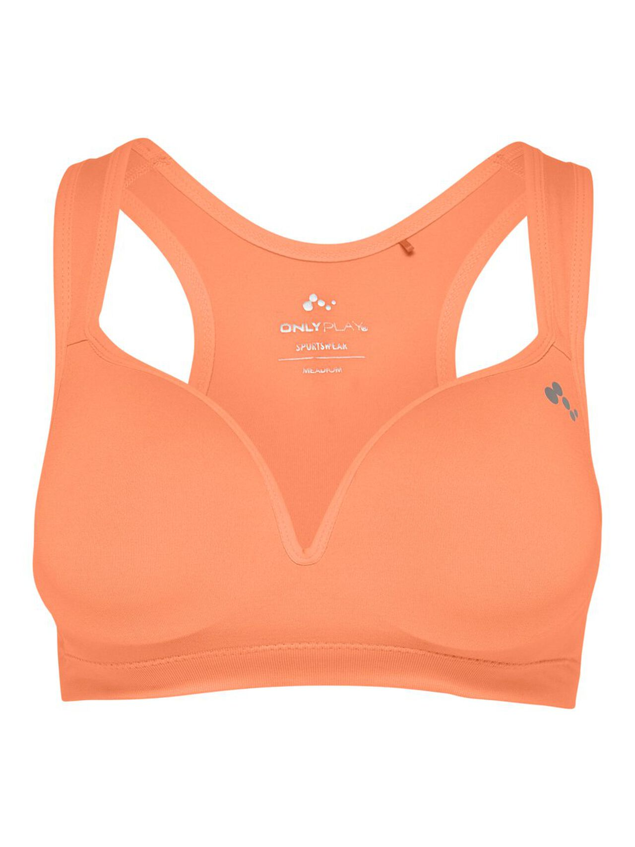 ONLY Nahtloser, Gefütterter Sport-bh Damen Orange