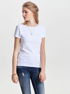 LACE-UP SHORT SLEEVED TOP
