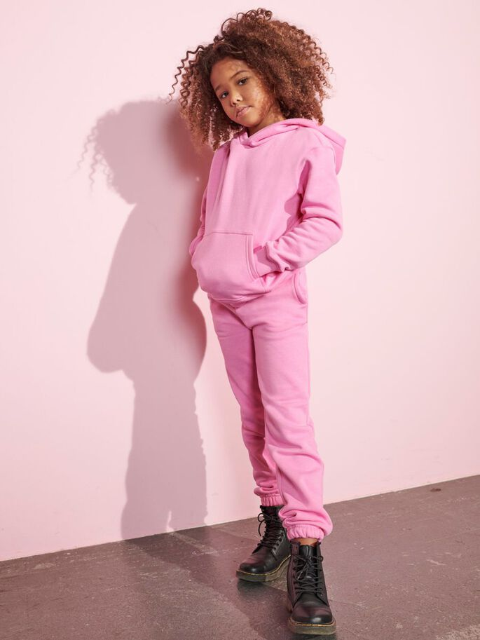 SOLID COLORED SWEATPANTS, Fuchsia Pink, large