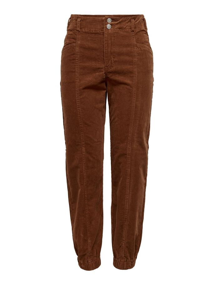 CORDUROY TROUSERS, Tortoise Shell, large